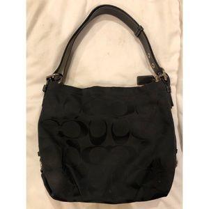 Coach black 24 CM signature duffle purse